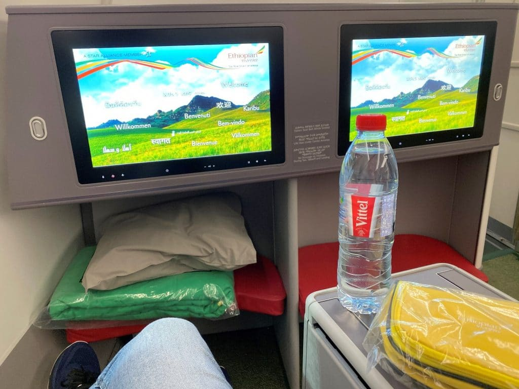 Ethiopian Airlines Business Class Airbus A350 Fußraum Bulkhead