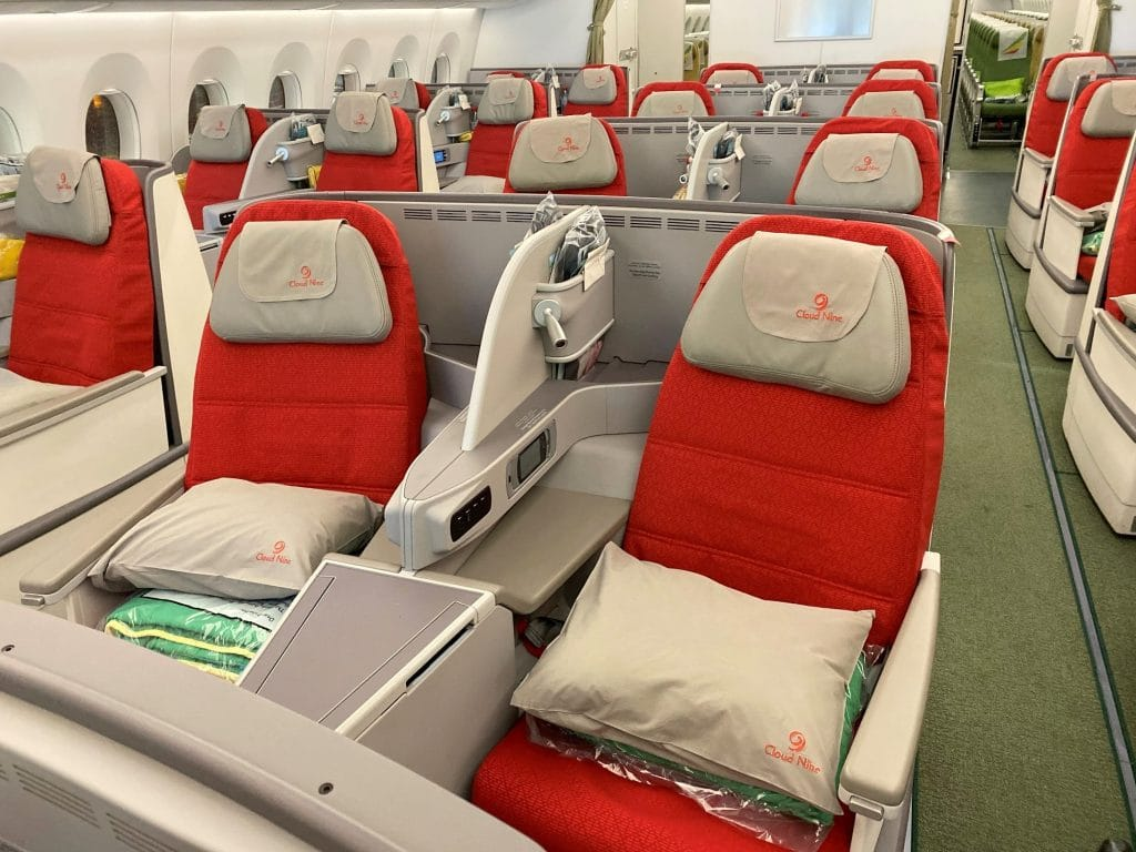 Ethiopian Airlines Business Class Airbus A350 Kabine