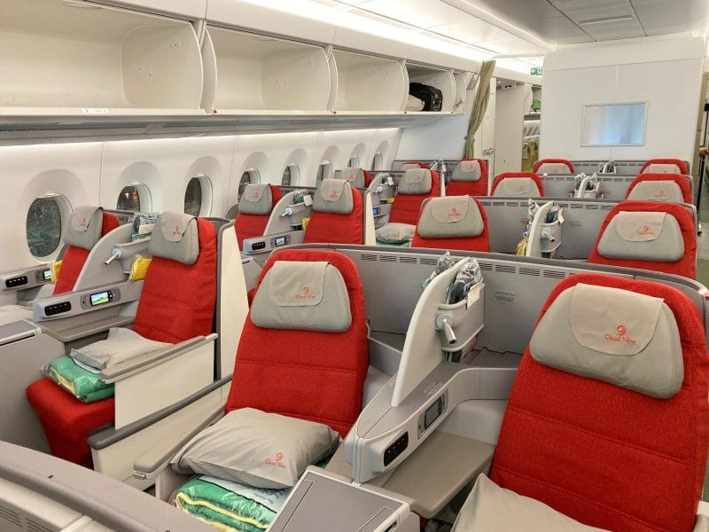 Ethiopian Airlines Business Class Airbus A350 Kabine 2