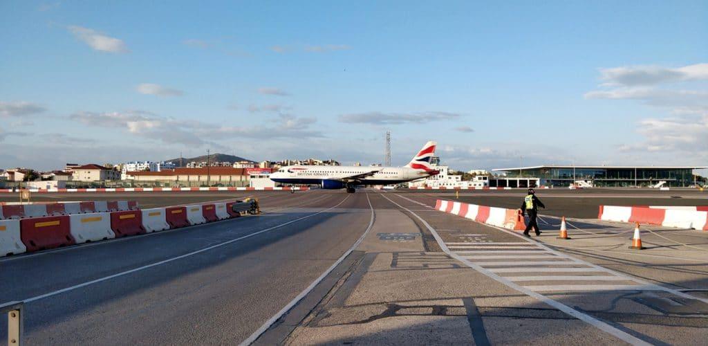 Gibraltar Landebabn British Airways