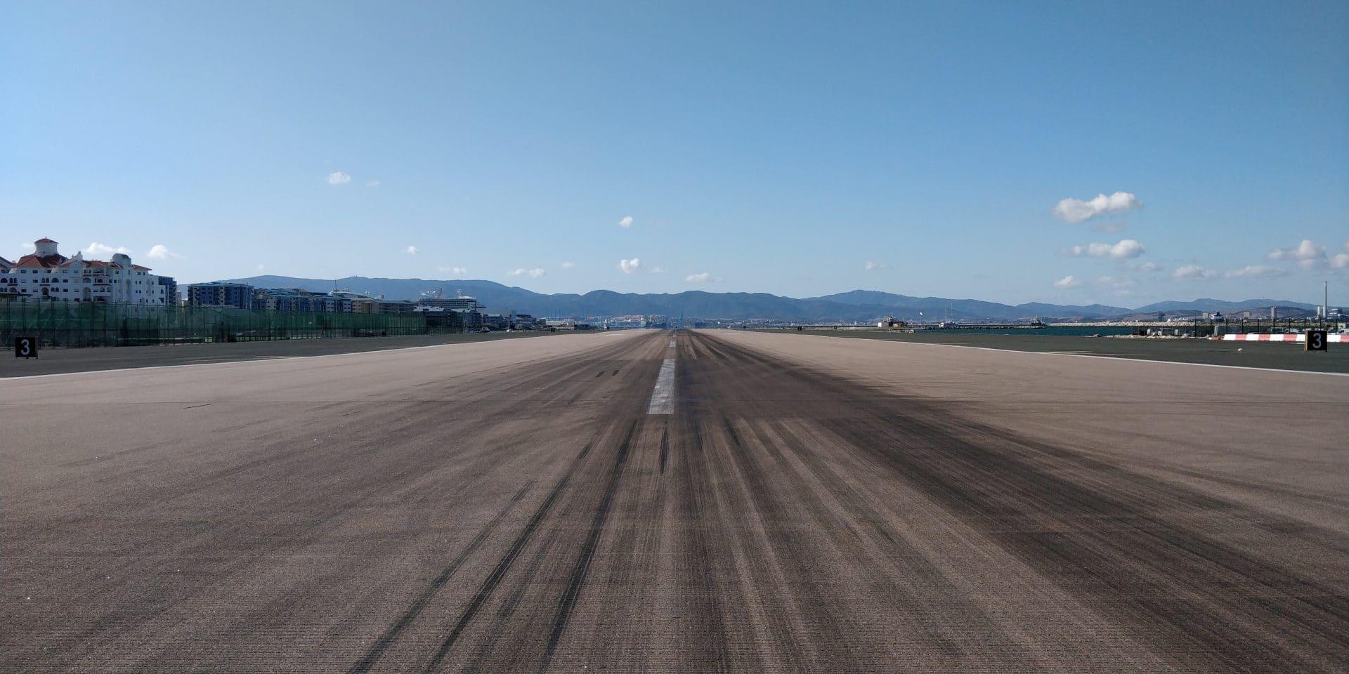 Gibraltar Landebahn