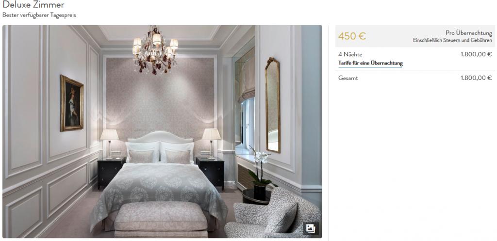 Hotel Sacher Wien Deluxe Zimmer