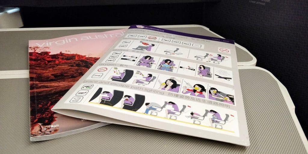 Virgin Australia Business Class Airbus A330 Magazin