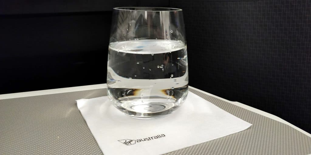 Virgin Australia Business Class Airbus A330 Welcome Drink