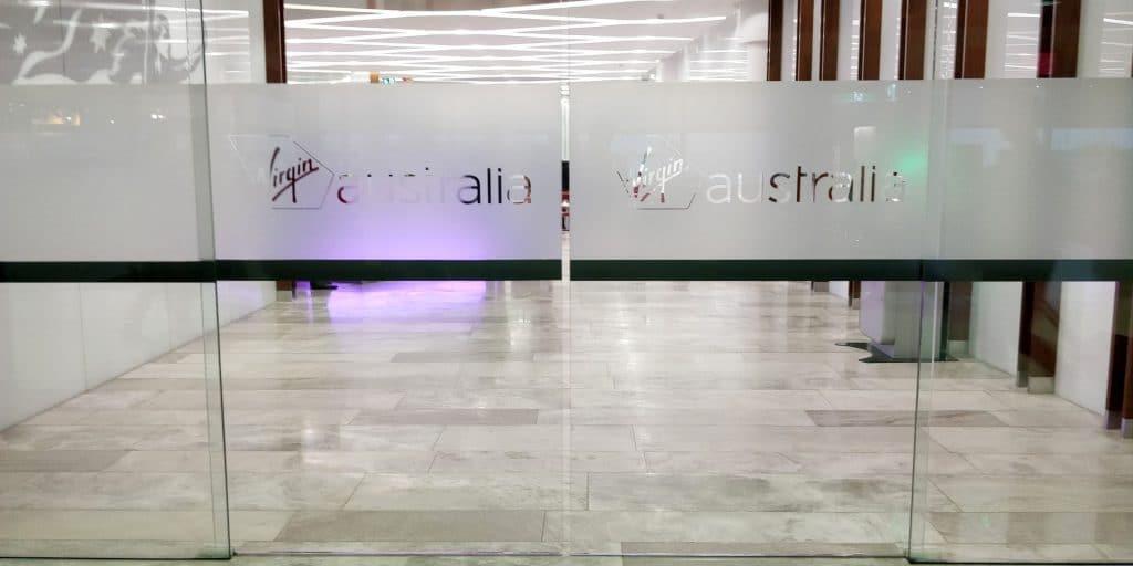 Virgin Australia Lounge Brisbane Eingang