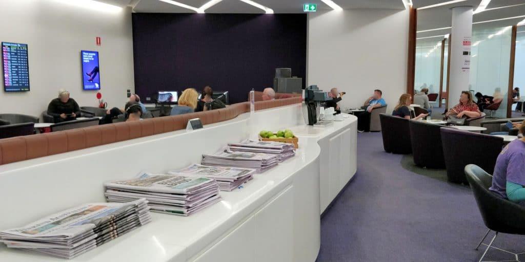 Virgin Australia Lounge Brisbane Zeitungen