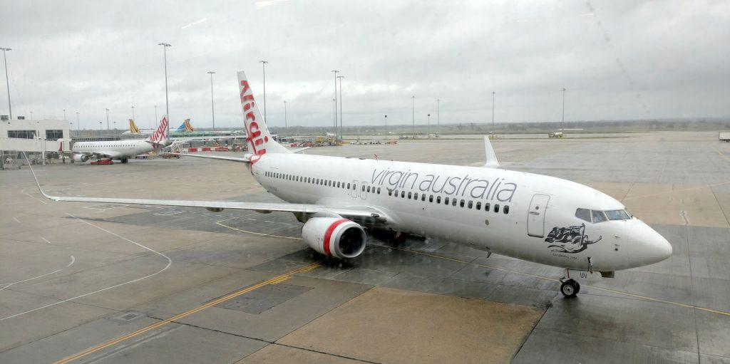 Virgin Australia Lounge Melbourne Ausblick 3