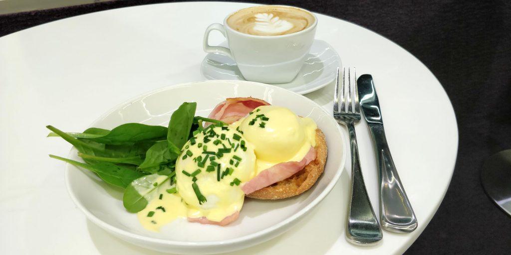 Virgin Australia Lounge Melbourne Frühstück