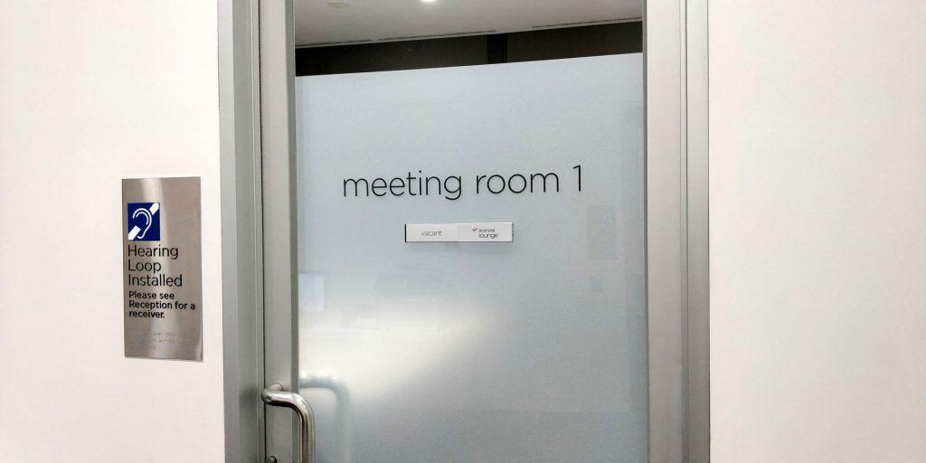 Virgin Australia Lounge Melbourne Meetingraum