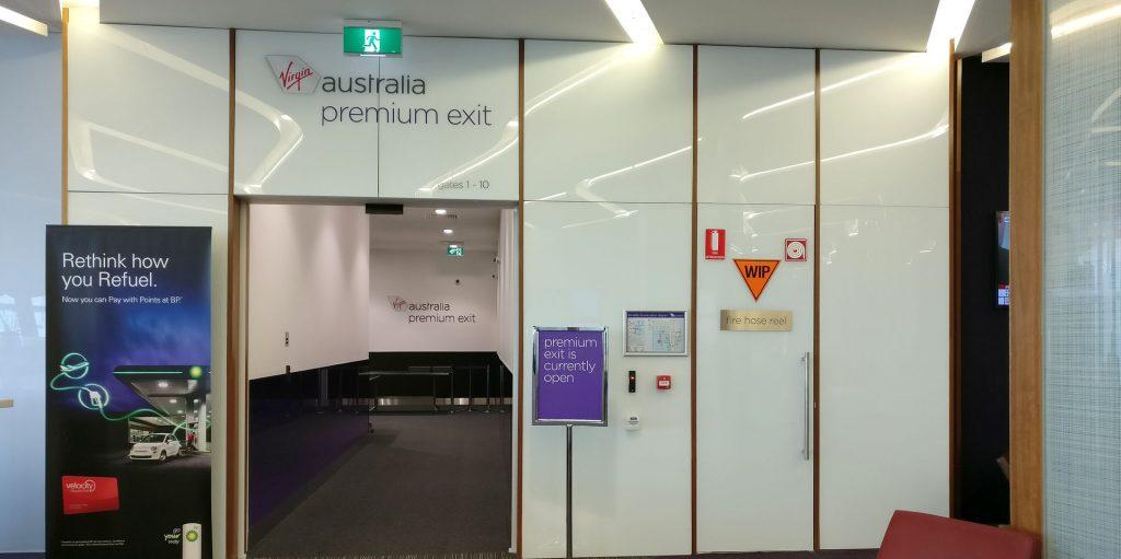Virgin Australia Lounge Melbourne Premium Exit