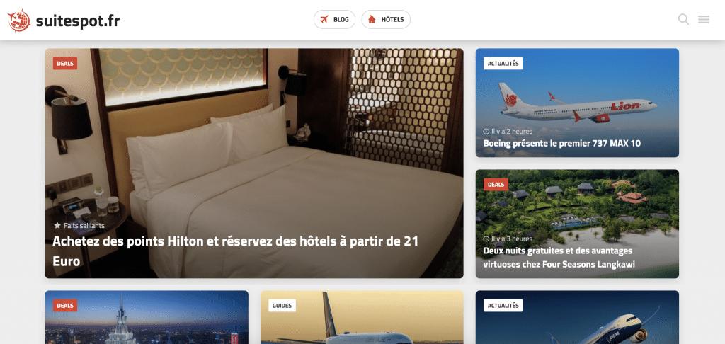 Suitespot.fr Screenshot
