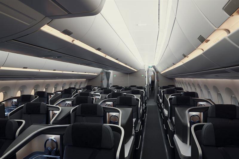 Business Class im A350 von SAS