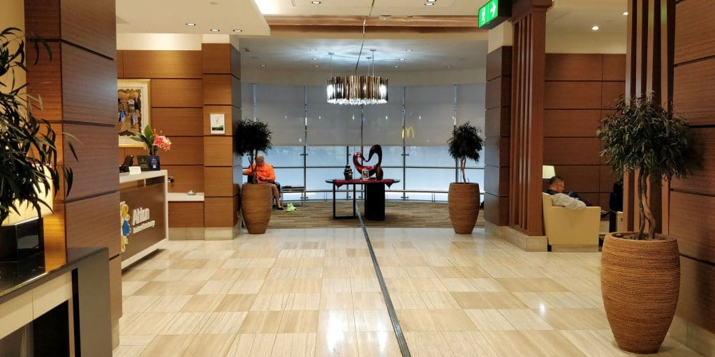 Ahlan Business Class Lounge Dubai Eingang