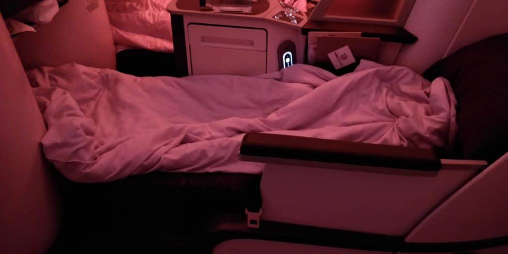 Air China Business Class Boeing 777 Bett