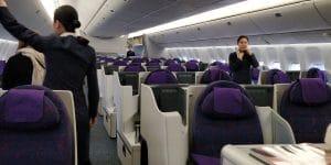 Air China Business Class Boeing 777 Sitz 1
