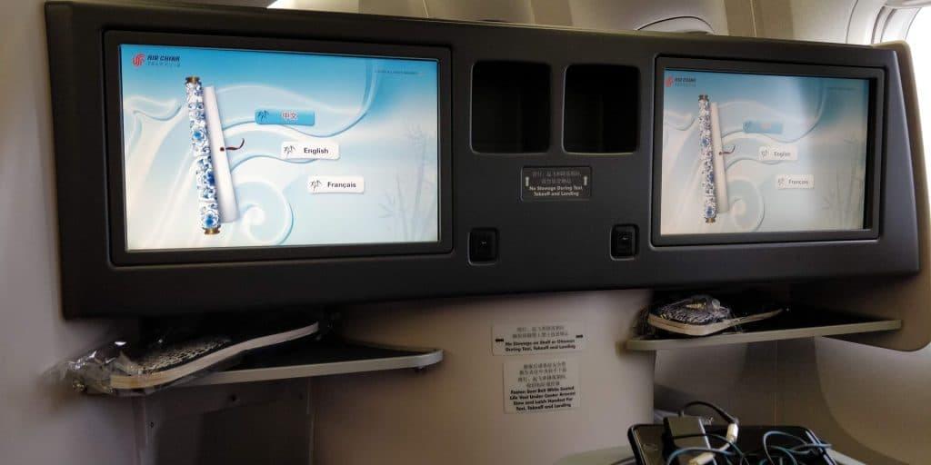 Air China Business Class Boeing 777 Sitz 10