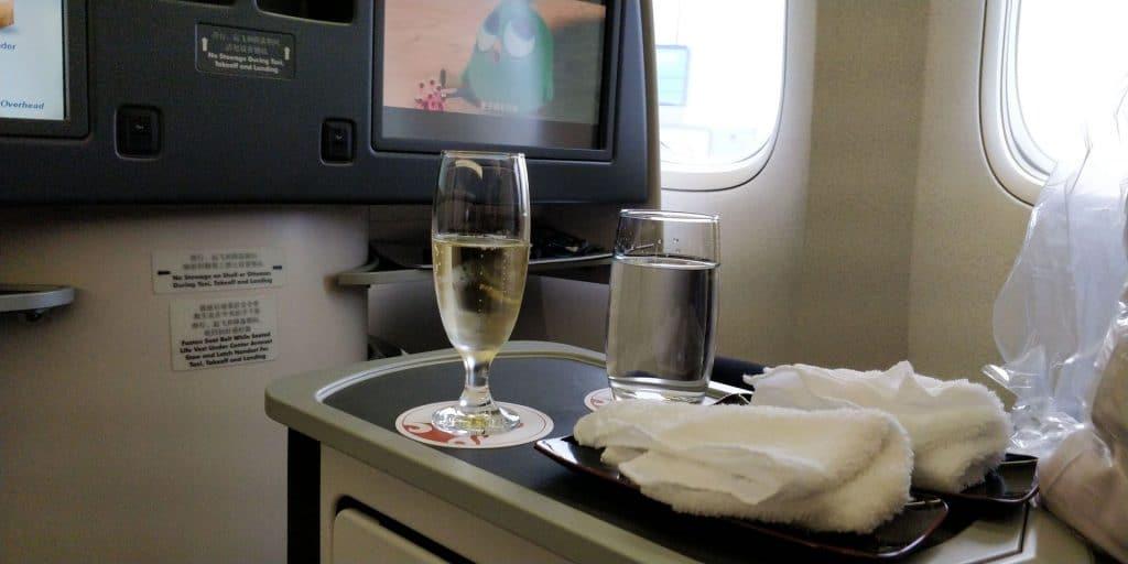 Air China Business Class Boeing 777 Sitz 12