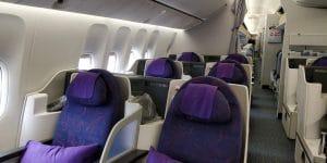 Air China Business Class Boeing 777 Sitz 2
