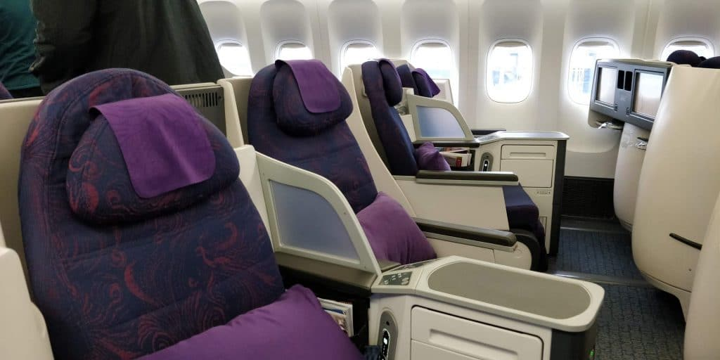 Air China Business Class Boeing 777 Sitz 6