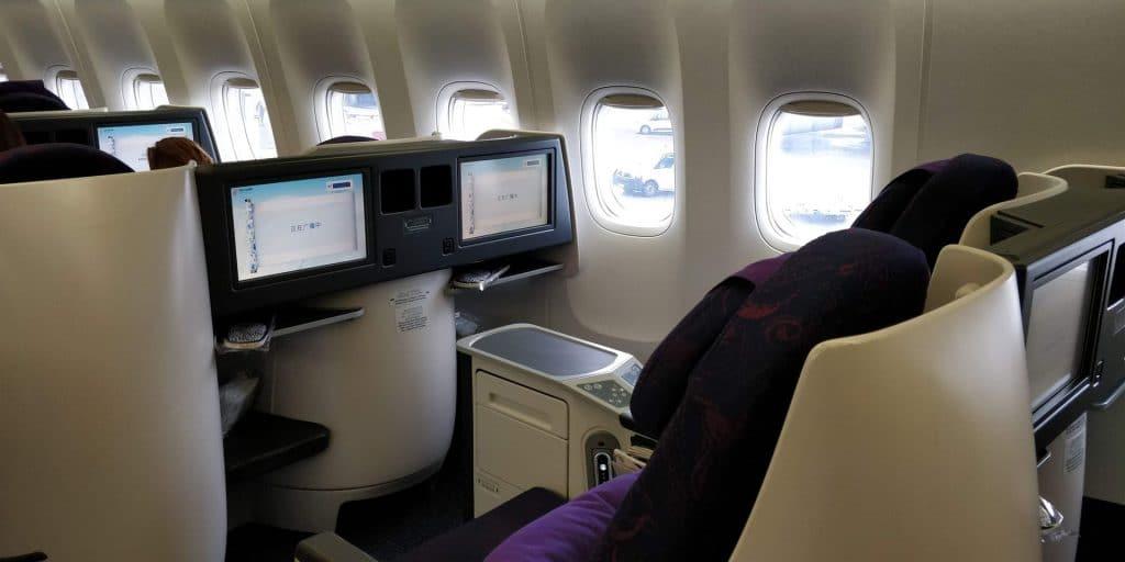 Air China Business Class Boeing 777 Sitz 8