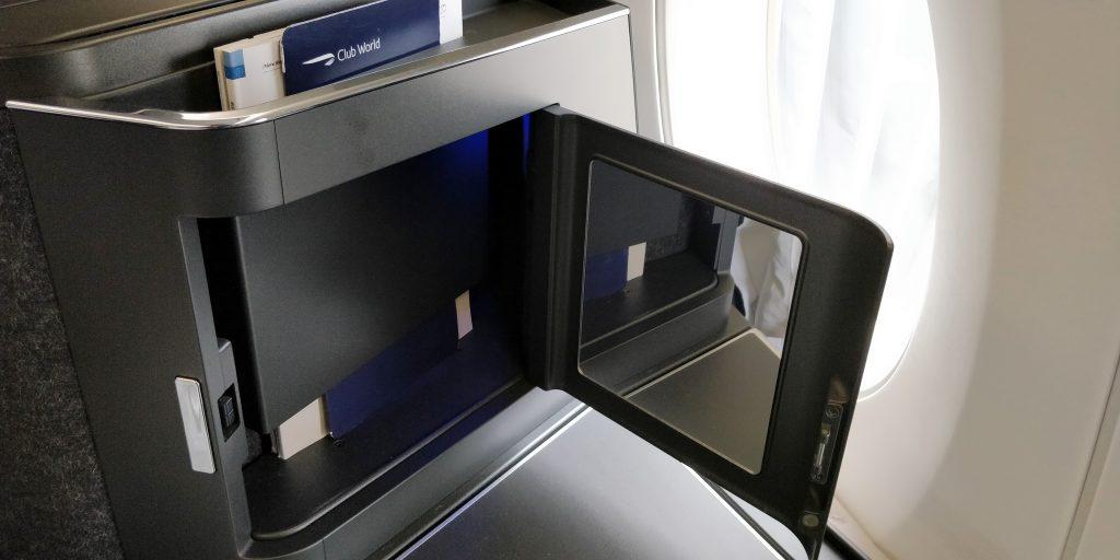 British Airways Business Class Airbus A350 Ablage 3