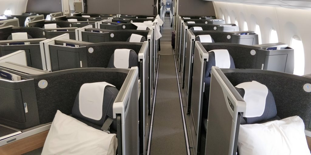 British Airways Business Class Airbus A350 Kabine