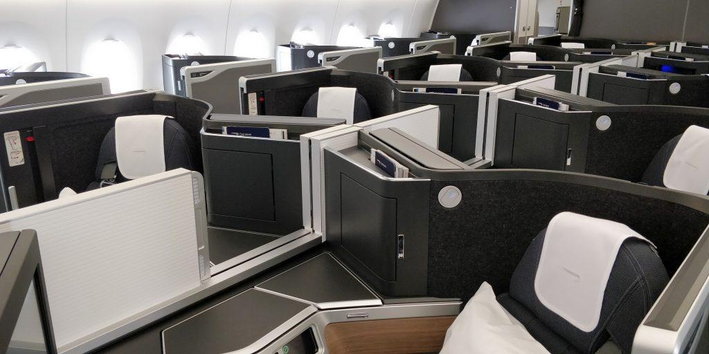 British Airways Business Class Airbus A350 Kabine 3