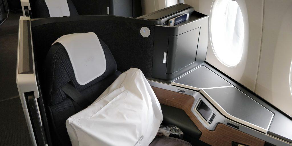 British Airways Business Class Airbus A350 Sitz 2