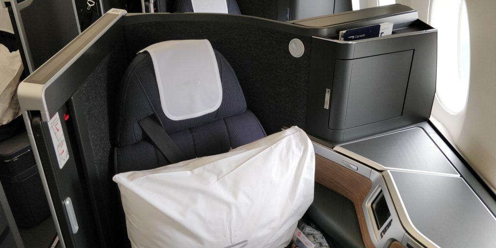 British Airways Business Class Airbus A350 Sitz 4