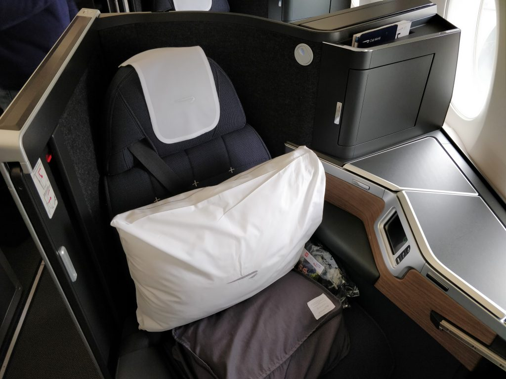 British Airways Business Class Airbus A350 Sitz 5