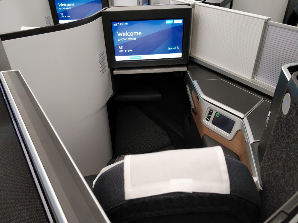 British Airways Business Class Airbus A350 Sitz 7