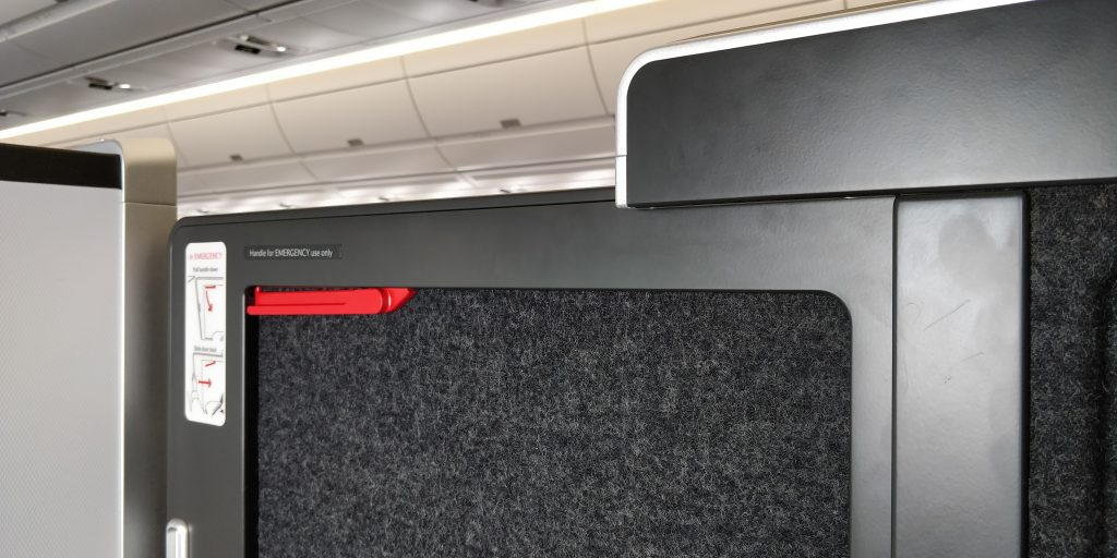 British Airways Business Class Airbus A350 Tür