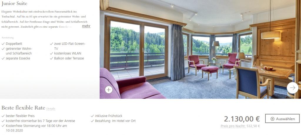 Hotel Traube Tonbach Junior Suite2