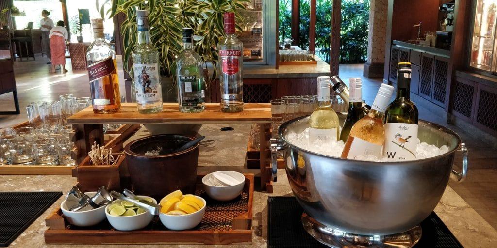 Hyatt Regency Bali Lounge Abendessen