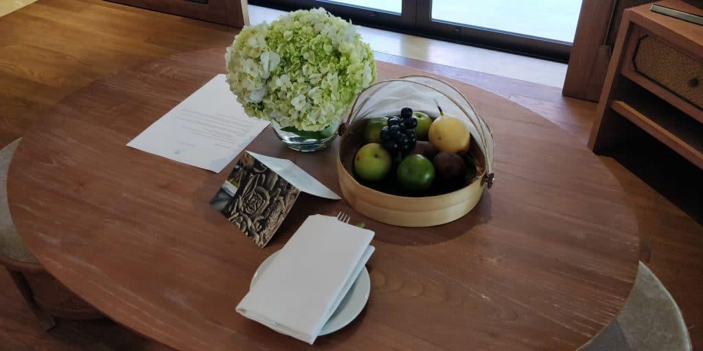 Hyatt Regency Bali Willkommensgeschenk