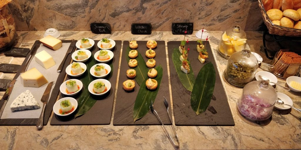 Shangri La's Far Eastern Plaza Taipeh Lounge Abendessen