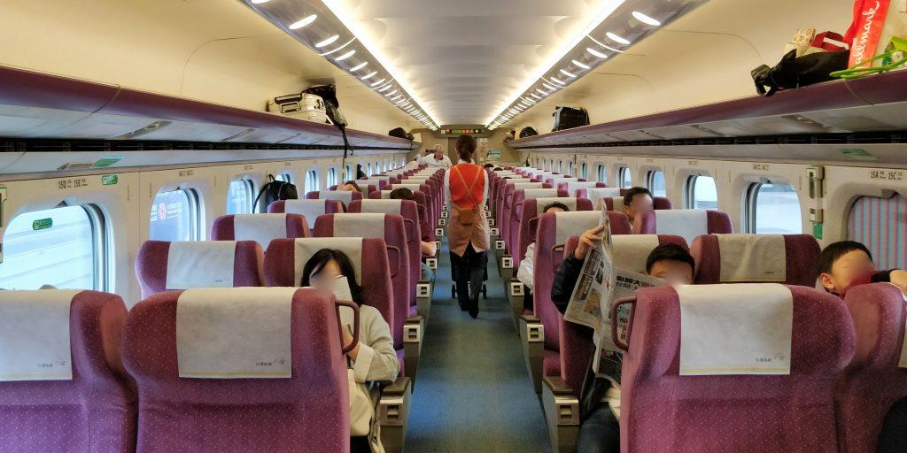 Taiwan Schnellzug Erste Klasse Kabine