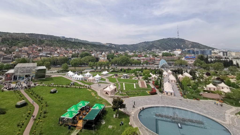 Tiflis Georgien Stadt Panorama
