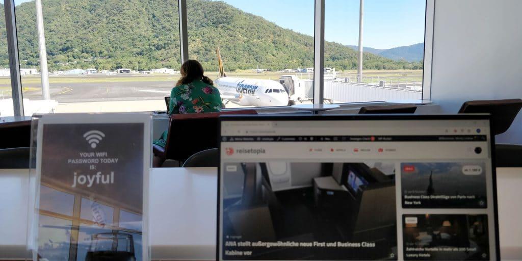 Virgin Australia Lounge Cairns Laptop