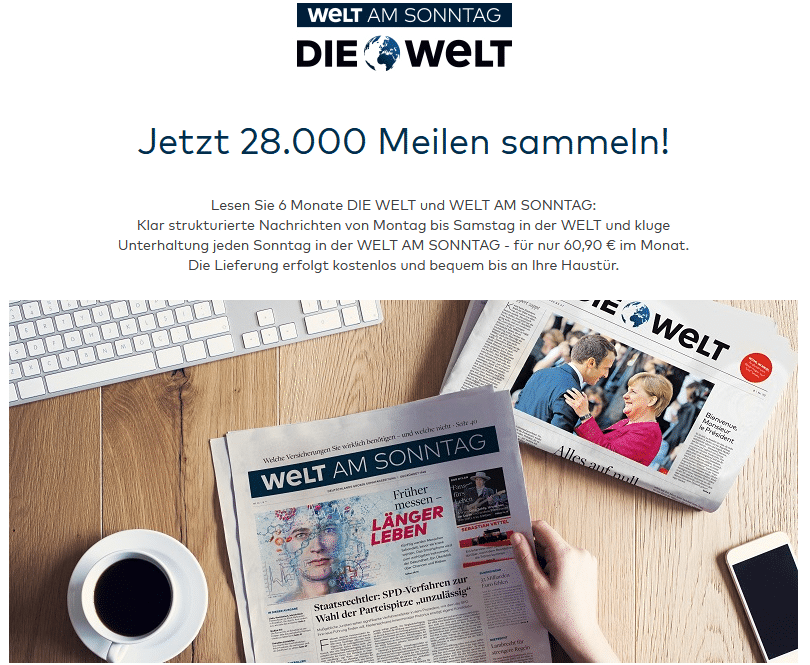 Welt Abo Miles & More