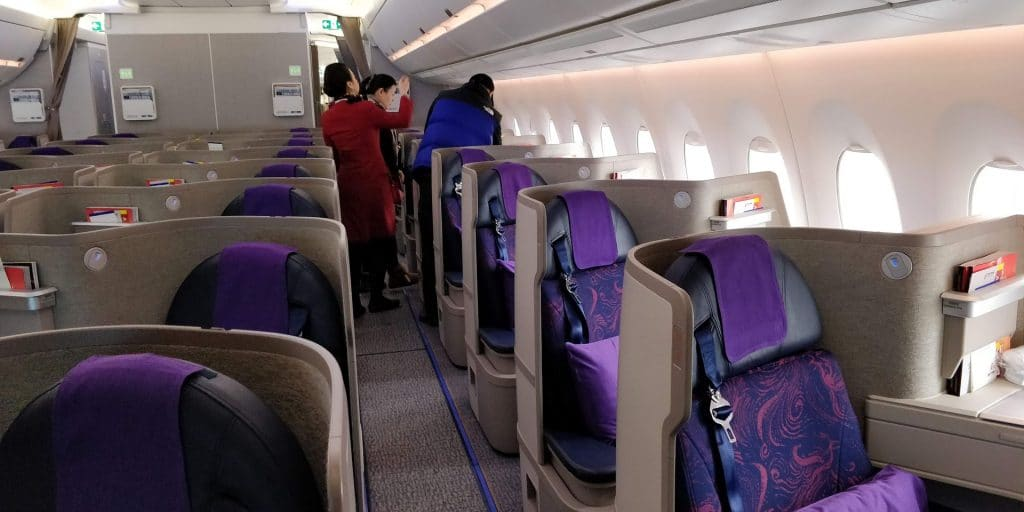 Air China Business Class Airbus A350 Sitz 2