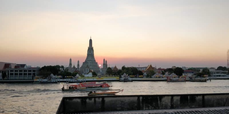 Bangkok Wat Arun Tempel Sonnenuntergang