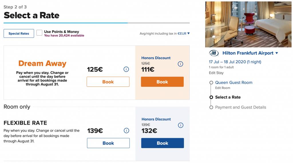 Hilton Dream Away Sale