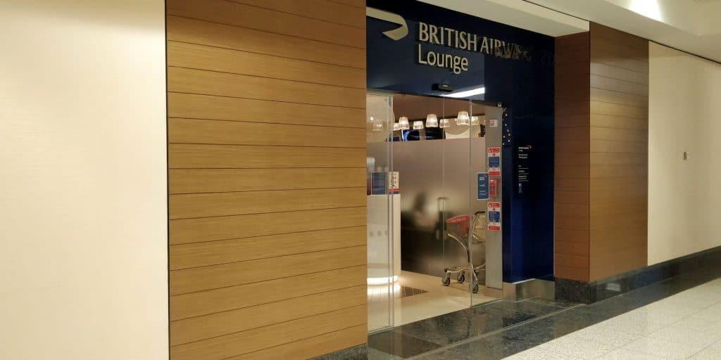 British Airways Lounge Dubai Eingang