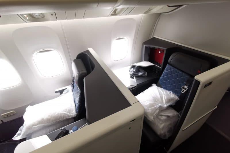 Delta One Suites Business Class Sitz