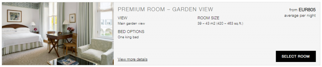 Four Seasons Hotel Milano Garden View Room