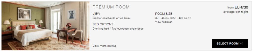 Four Seasons Hotel Milano Premium Room