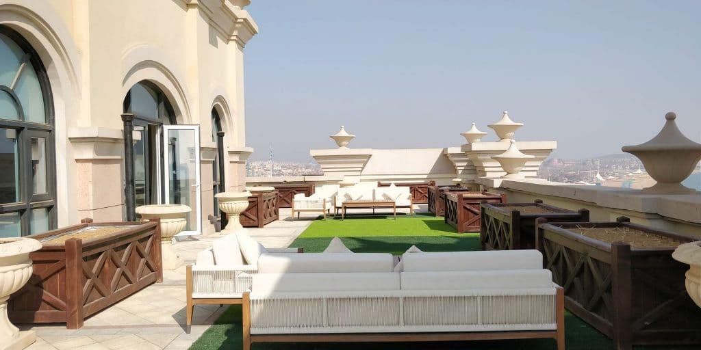 Hilton Dalian Golden Pebble Beach Suite Terrasse 5