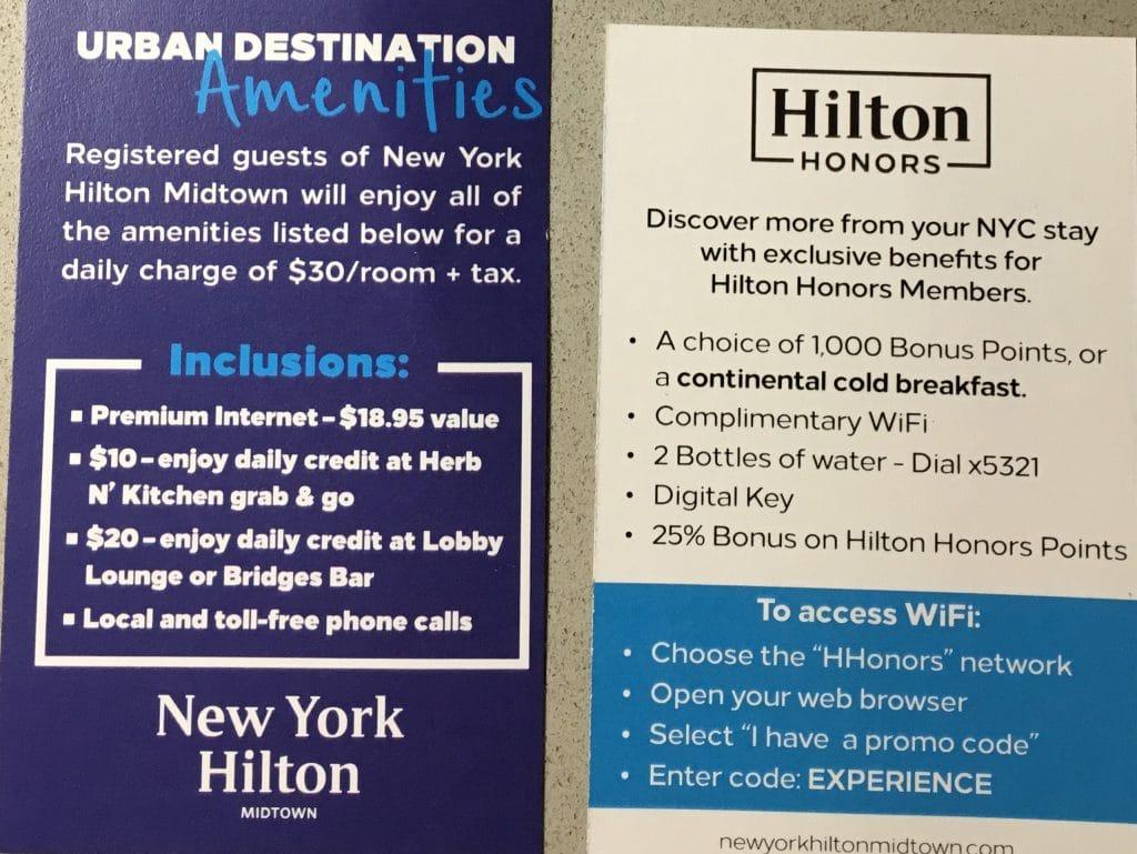 Hilton Midtown New York Voucher