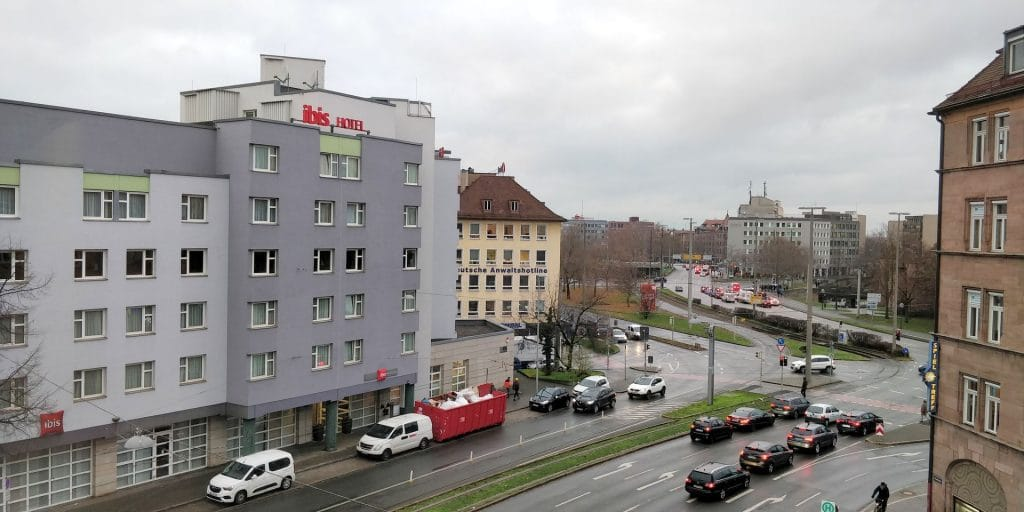 Park Inn Nürnberg Ausblick